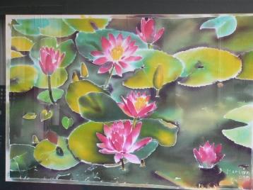 batik-lotus pond