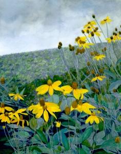 Watercolour-Yellow flowers-Bkk