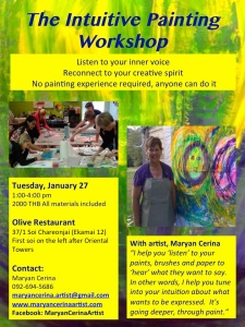 Intuitive Painting-Jan 27-2015-Olive-BKK