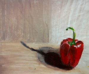 Still life- red pepper